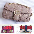 CELEBRITY Women's Leather Quilted Shoulder Waist Bag With Chain Purse Handbag