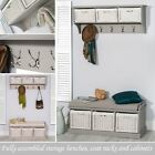 Tetbury hanging shelf and bench set.Large Hallway storage bench & coat rack