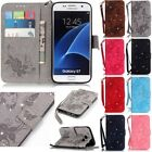 Butterfly Diamond Leather Wallet Card Slot Stand Case Cover For Samsung Galaxy