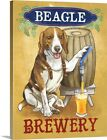 """Canvas Art Print """"Beer Dogs IV"""""""