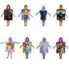 GIRLS BOYS KIDS OFFICIAL LICENSED CHARACTER HOODED TOWEL PONCHO BEACH SWIM BATH
