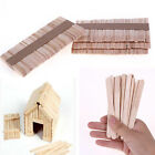 50Pcs/set Wooden Popsicle Sticks for Party Kids Toy Hand Crafts Ice Cream Pop