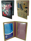 Leather Slimline Travel Pass Oyster Bus Pass Card ID Holder with Picture Design