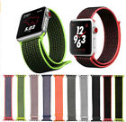 Sport Loop Woven Velcro Nylon Band Wrist Replacement For Apple Watch Series 3 2