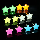 6pairs/lot New Fashion Charm Glow In The Dark (not LED Stud Earrings) 5C SP
