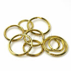 Solid Brass Split Rings Double Loop Key ring 20/ 25/ 30mm Leather Craft hardware