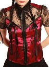 BLACKLIST - PERFUME AND LACE CAP SLEEVE TOP - MAGENTA/BLACK - GOTHIC