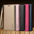 For iPhone X SE 6 7 8 Plus Magnetic Flip Genuine Leather Wallet Stand Case Cover