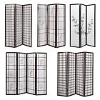 room partition panels - 3 & 4 Panel Foldable Room Divider Shoji Wood Fabric Screen Privacy Wall 3 Types