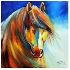 Poster Print Wall Art entitled Golden Gypsy Vanner