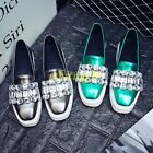 Womens Fashion Rhinestone Creepers Platform Loafers Slip On Sneaker Casual Shoes