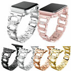 Stainless Steel Bling Diamond Bracelet iWatch Band Strap Apple Watch Series 4~1 image