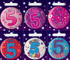 Age 5 5th Birthday Badge Boy Girl Small Badge Childrens Party Gift Present