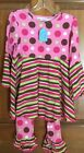 Flap Happy 2 pc outfit pink, brown and green  print,12mos,24 mos,3,4,5,6,7