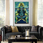 India Ganesh Elephant Trunk God 3 Panel Wall art print canvas hanging home decor
