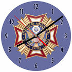 """8"""" WALL CLOCK VFW Veterans of Foreign Wars Military Army Navy Air Force Marines"""