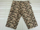 CALVIN KLEIN JEANS Fatigue Camo Cargo Cotton Shorts Mens Sz 30 to 40 Brown Camo