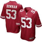 Mens S XL Nike SAN FRANCISCO 49ers Game Jersey BOWMAN NFL Shirt Home 15