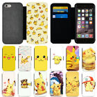 pokemon iphone 5s - Cute Cartoon Pikachu Pokemon Flip Wallet Phone Case For iPhone 5s 6 7 8 X Cover
