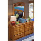 Outdoor Leisure Products 6-Drawer Dresser with 2 Adjustable Shelves and Mirror