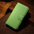 Green Flip PU Leather Case Card Slot Cover  Stand Fashion Wallet For Smart Phone