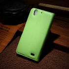 New PU Leather Flip Case Card Slot Wallet Stand Pouch Cover Magnetic Skin Green