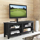 """Walker Edison 58"""" Wood TV Stand with Mount and Adjustable Shelves"""