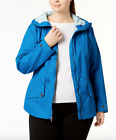 Columbia Women's Regretless Jacket Plus 2X Jewel Blue Hooded Waterproof Spring