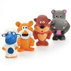 Squeaky Latex Dog Toy Funny Standing Animal Family Puppy Interactive Play WONPET