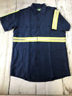 NEW Reed Reflective Enhanced Visibility Work Shirt Short Sleeve 2 Pockets HiVis