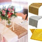 12'x108' 12''x72'' Satin Sequin Table Runner Wedding Venue Party Banquet Decor