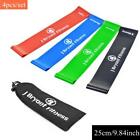 Resistance Band Set 4 Levels Available Latex Strength Rubber Loop Gym Accessory