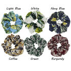 1PC Chiffon Scrunchies Pineapple Leaf Plant Hair Bands Elastic Ponytail Holder