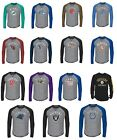 Men's NFL Retro Logo Long Sleeve Shirt Historic Raglan T Shirt Vintage Tee Tees on eBay