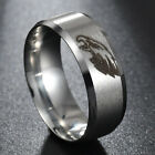 Silver Titanium Steel Philadelphia Eagles Ring Football Men Sport Band Size 6-13 on eBay