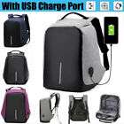 Anti Lifting Smart School College Travel Backpack Safe Bag USB Charging Laptop