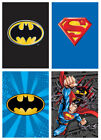 "Superman and Batman Twin Size Luxury Plush Ultra Soft Blanket 60""x80"" in 4 Style image"