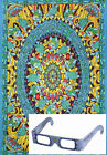 """Grateful Dead 3D Tapestry """"Terrapin Dance"""" - (Glasses Included) - 2 Sizes"""