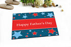"""Happy Father's Day Fabric Shower Curtain Set 71"""" Waterproof Bathroom Accessories"""