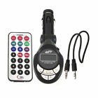 Wireless LCD Car Auto FM Transmitter MP3 Music Player USB MMC SD Remote