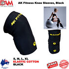 DAM 1 Pair KNEE WRAPS FOR POWERLIFTING/BODYBUILDING BLACK COTTON ELASTIC NEW
