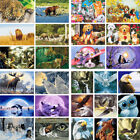 DIY Acrylic Paint Animals Wolf Cats Oil Painting By Number Kit Wall On Canvas