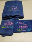 Flip Flop Queen Towel Set Personalized Gift Bath Towels Hand Towels