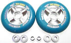 "Scooter Make It Faster Tuning 104mm Reel "" Sticky "" Abec 9 Blue Scooter Wheels"