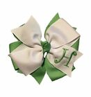 Mint Green Monogram Hair Bow