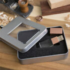 Wooden Rose Gold Crystal USB 2.0 Memory Flash Drive can Customized logo + Box