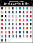 nail wrap - Jamberry Nail Wraps In-Stock Selection of SOLIDS SPARKLES & TINTS ~ HALF SHEETS