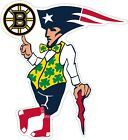 "Boston Guy Sports Teams Logo Mash Up Vinyl Decal - You Choose Size 3""-28"""