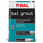 Bal White Tiling Grout For Walls 10kg