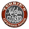 CWKC-0733 TERRIE'S KITCHEN CLOSED Chic Tin Sign Decor Mother's day Gift